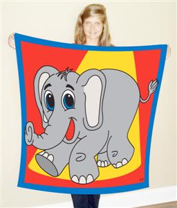 Elephant Production Silk 45""