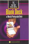Blank Deck Booklet (25 Tricks) (TM)