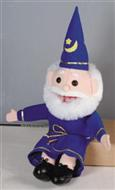 "Puppet Little Wizard 15"" - Blue Rope and Hat"