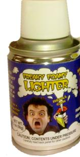Freaky Foam Lighter Refills - Spray Can
