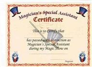 Magicians Assistant Certificates 12 per pack (FT)