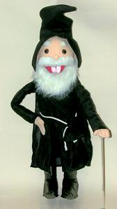 Puppet Happy Dwarf or Old Wizard 28""