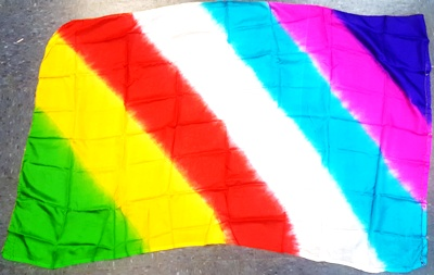 "Flag Staff Rainbow Production Silk 36"" x 60"" (FT)"