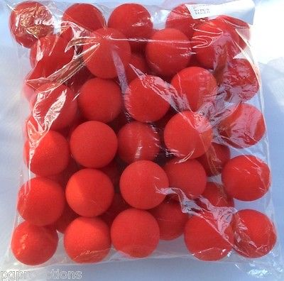 "Sponge Balls - 1"" - Regular (Gosh) - Bulk Bag of 50 - Red"