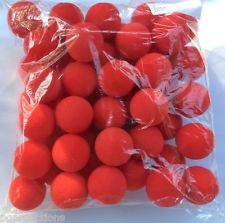"Sponge Balls - 2"" - Regular (Gosh) - Bulk Bag of 50 - Red"