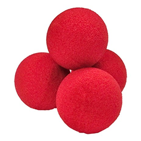 "Sponge Balls - 3"" - Regular (Gosh) - Pack of 4 - Red"