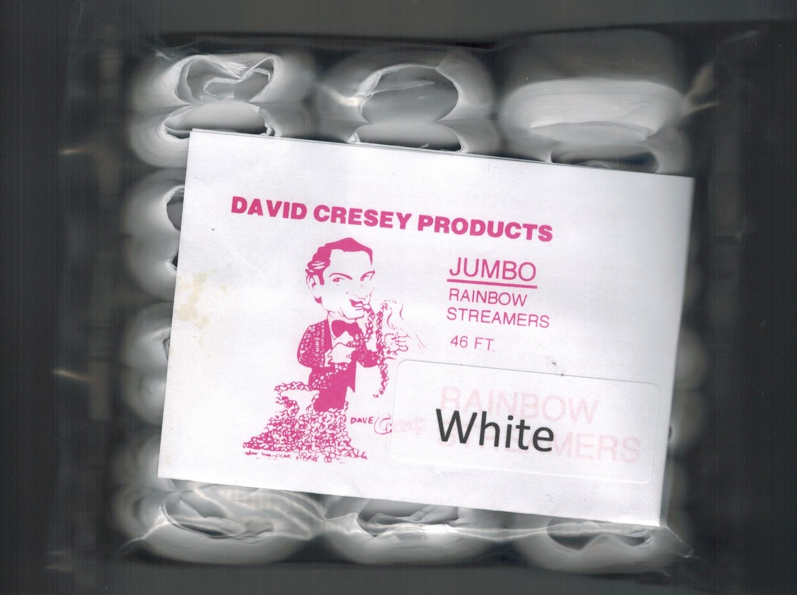 Mouth Coils - Jumbo Cresey - 46 Ft - White